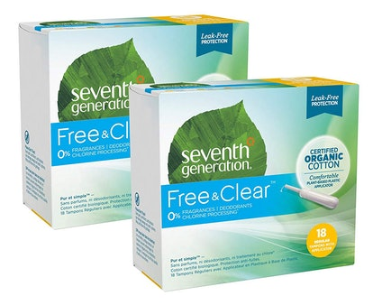 Seventh Generation Organic Cotton Tampons, Regular Absorbency, 36 Count