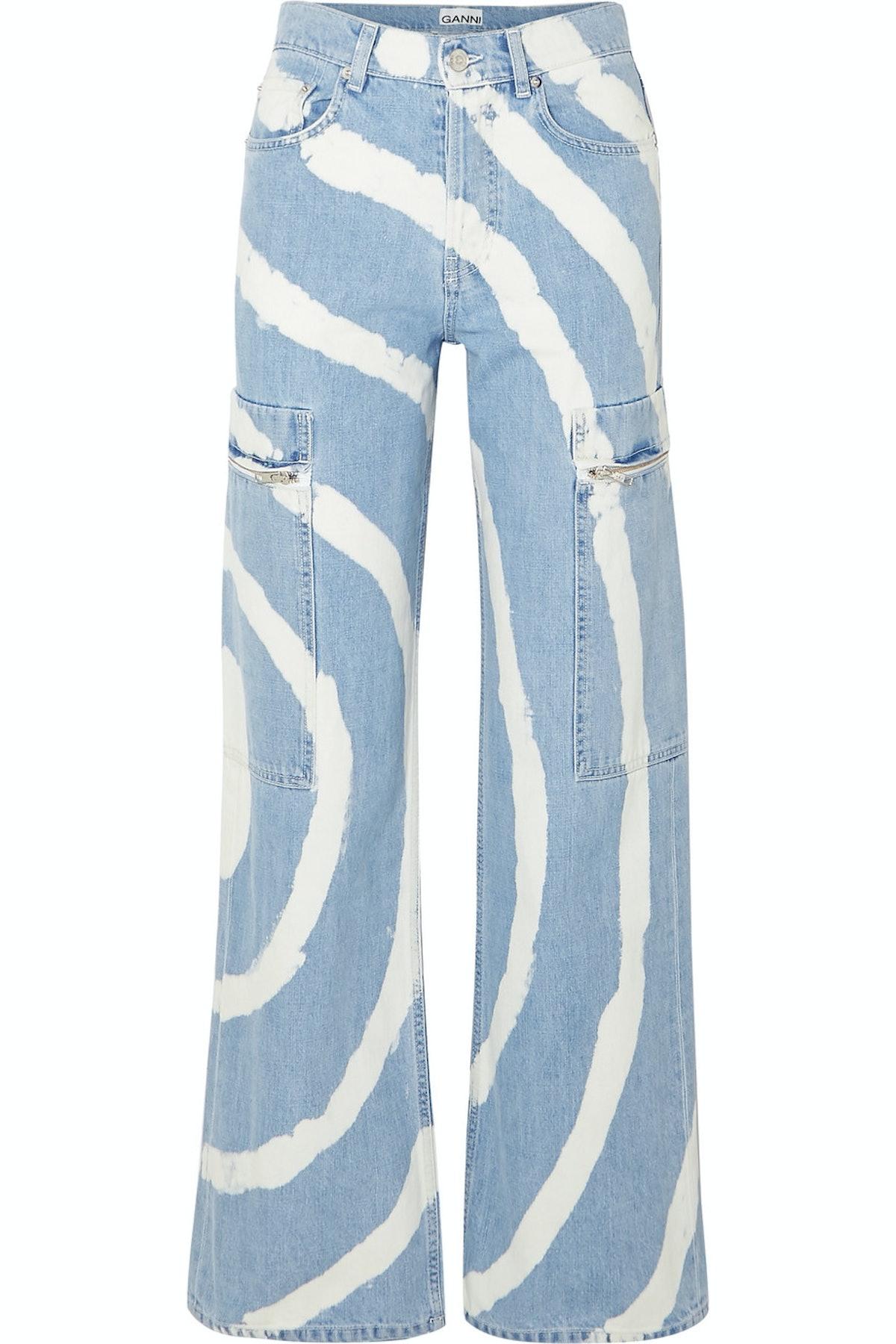 Blackstone Bleached High-Rise Wide-Leg Jeans
