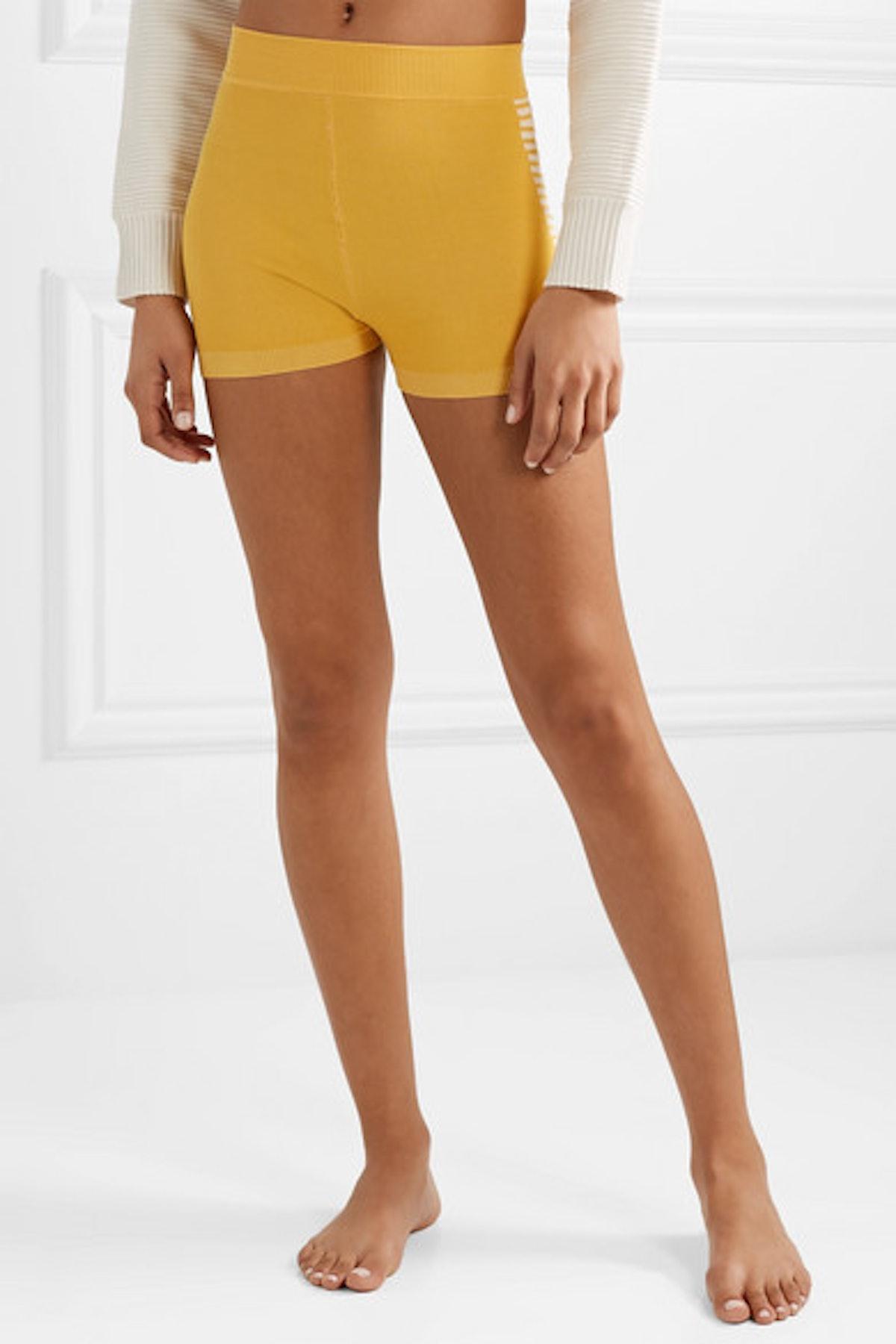 Yoni Striped Technical Organic Cotton-Blend Shorts