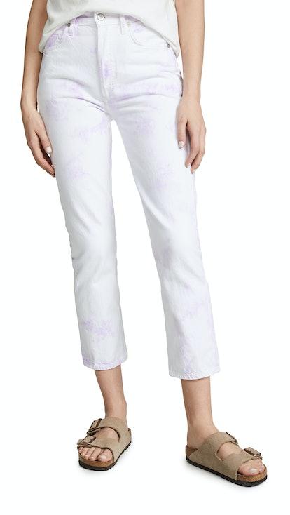 Charlotte Crop Tie Dye Jeans