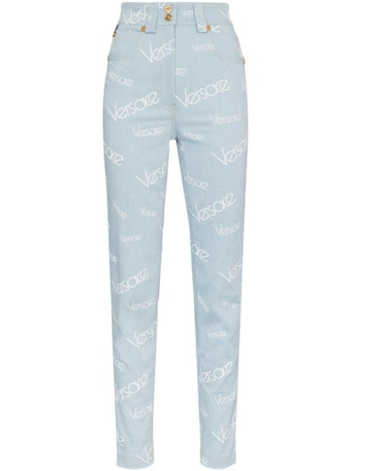 Light Blue All Over Print Jeans