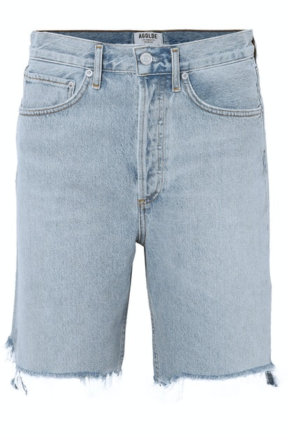 '90s Distressed Denim Shorts