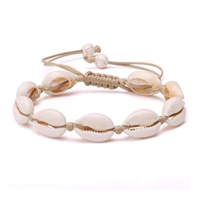 Natural Cowrie Beads Shell Anklet