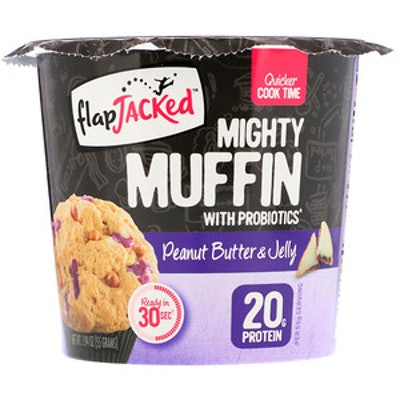 FlapJacked, Mighty Muffin with Probiotics, Peanut Butter and Jelly