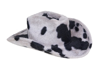 Cowboy Hat in Cow Long Hair Angora