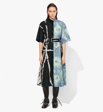 Tie-Dye Denim Shirt Dress