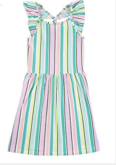 Striped Flutter Dress