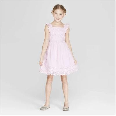 Eyelet Scallop Dress