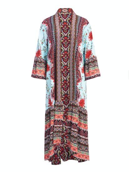 Dottie Mixed-Print Reversible Kimono
