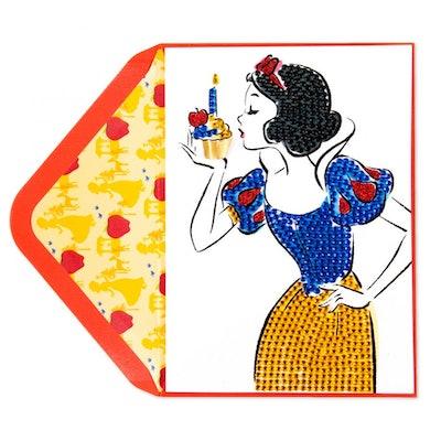 Sparkling Snow White Birthday Card