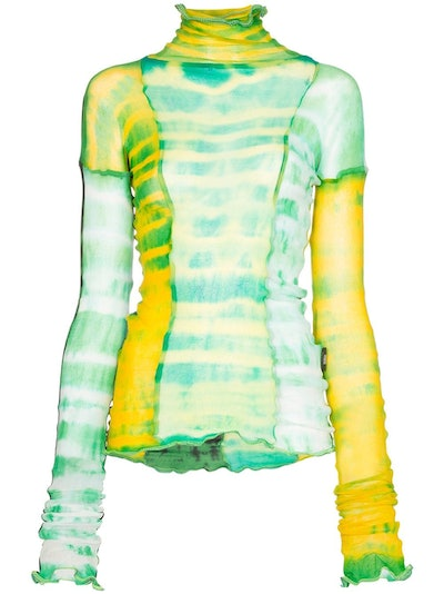 Hot Wok Sheer Tie-Dye Top