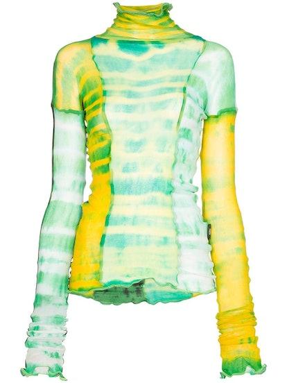 Hot Wok Sheer Tie-Dye Top