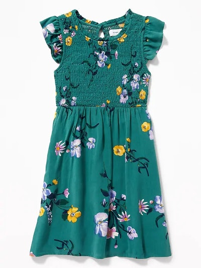 TODDLER BABY Girls / Dresses & Jumpsuits From $10 Product 0 Product 1 Product 2  Smocked Floral-Print Fit & Flare Dress