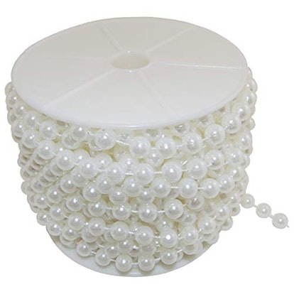 Large Pearls Faux Crystal Beads by The Roll, 10mm