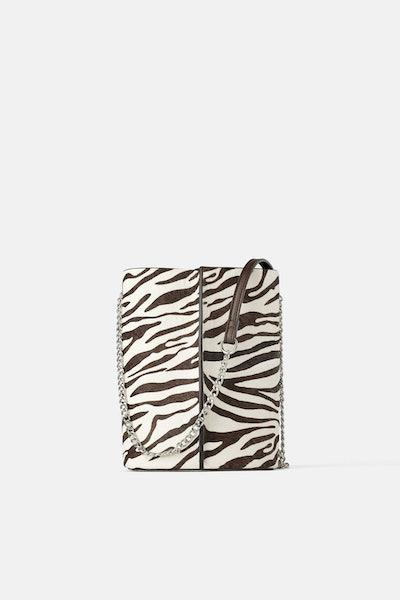 Zara Animal Print Bucket Bag