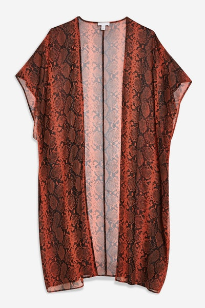 Topshop Snake Print Chiffon Kimono
