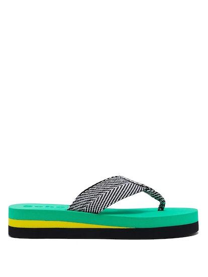 Geometric Woven Flip-Flops