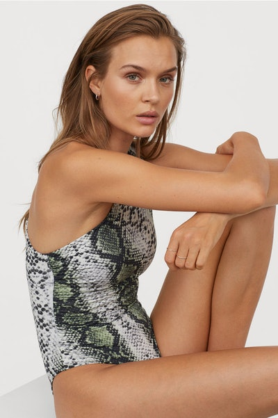 H&M One-Shoulder Swimsuit