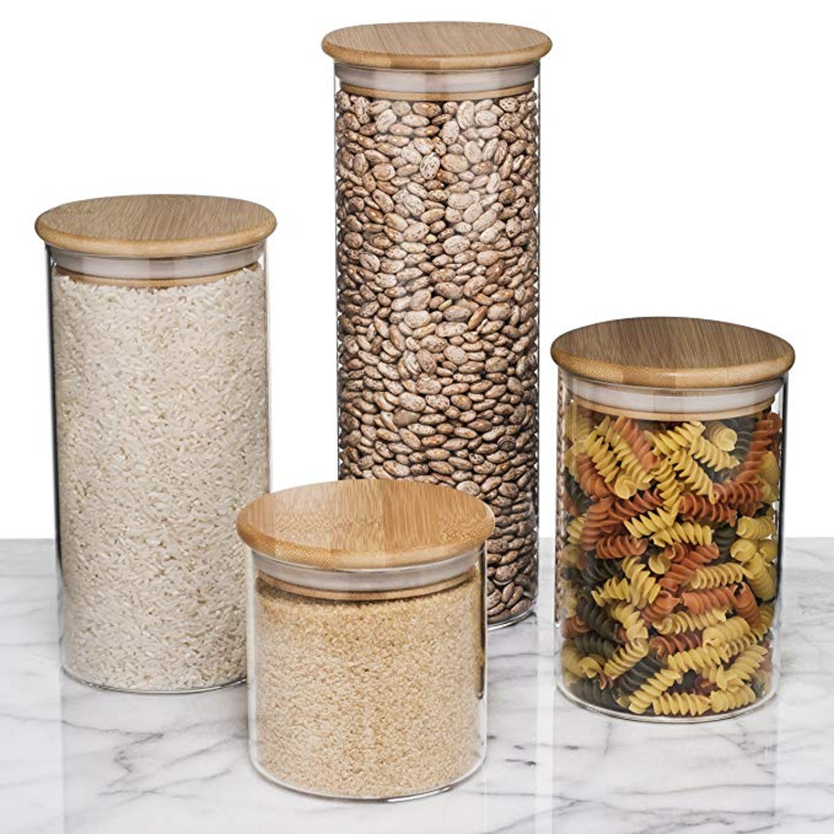 Sweetzer & Orange Glass Food Storage Containers (4-Piece)