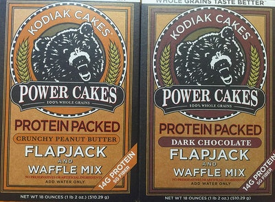 Kodiak Cakes Chocolate And Crunchy Peanut Butter Combo Pack