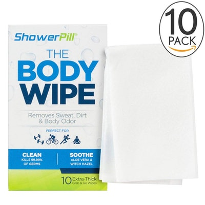 ShowerPill Body Cleaning Wipes (2 Pack)