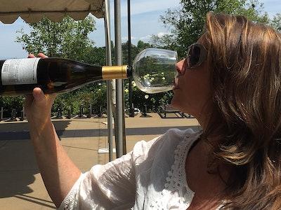 Guzzle Buddy Wine Bottle Glass