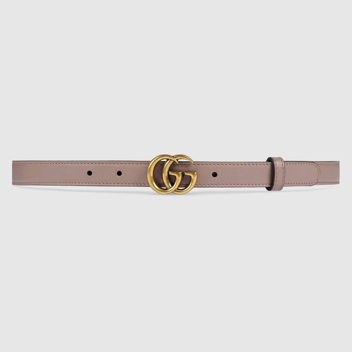 Double G Leather Buckle Belt