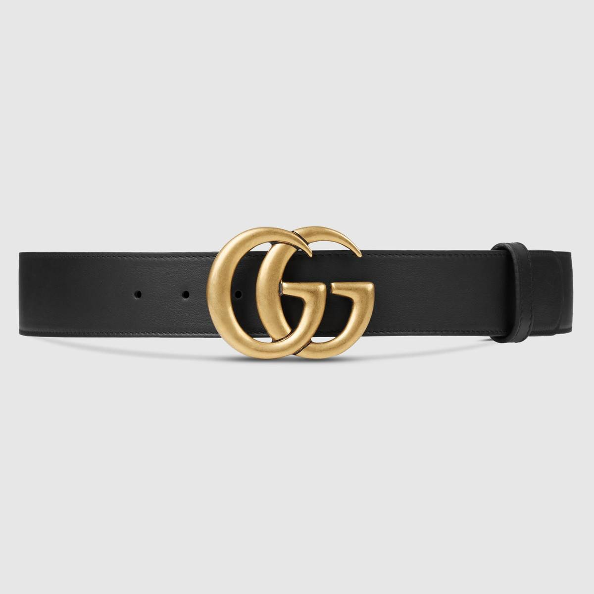 Double G Buckle Leather Belt