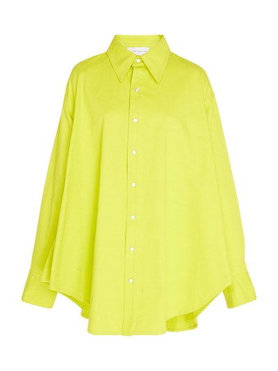 Oversized Cotton-Poplin Top