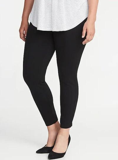 High-Rise Plus-Size Ponte-Knit Stevie Pants