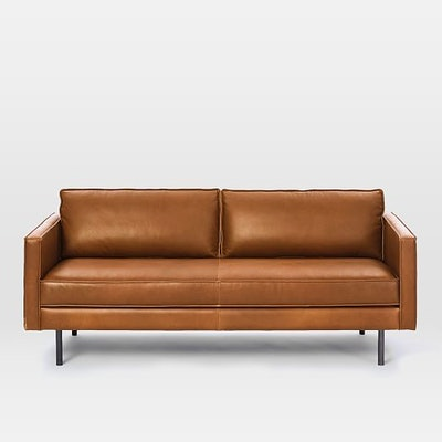 "Axel Leather Sofa (76"")"