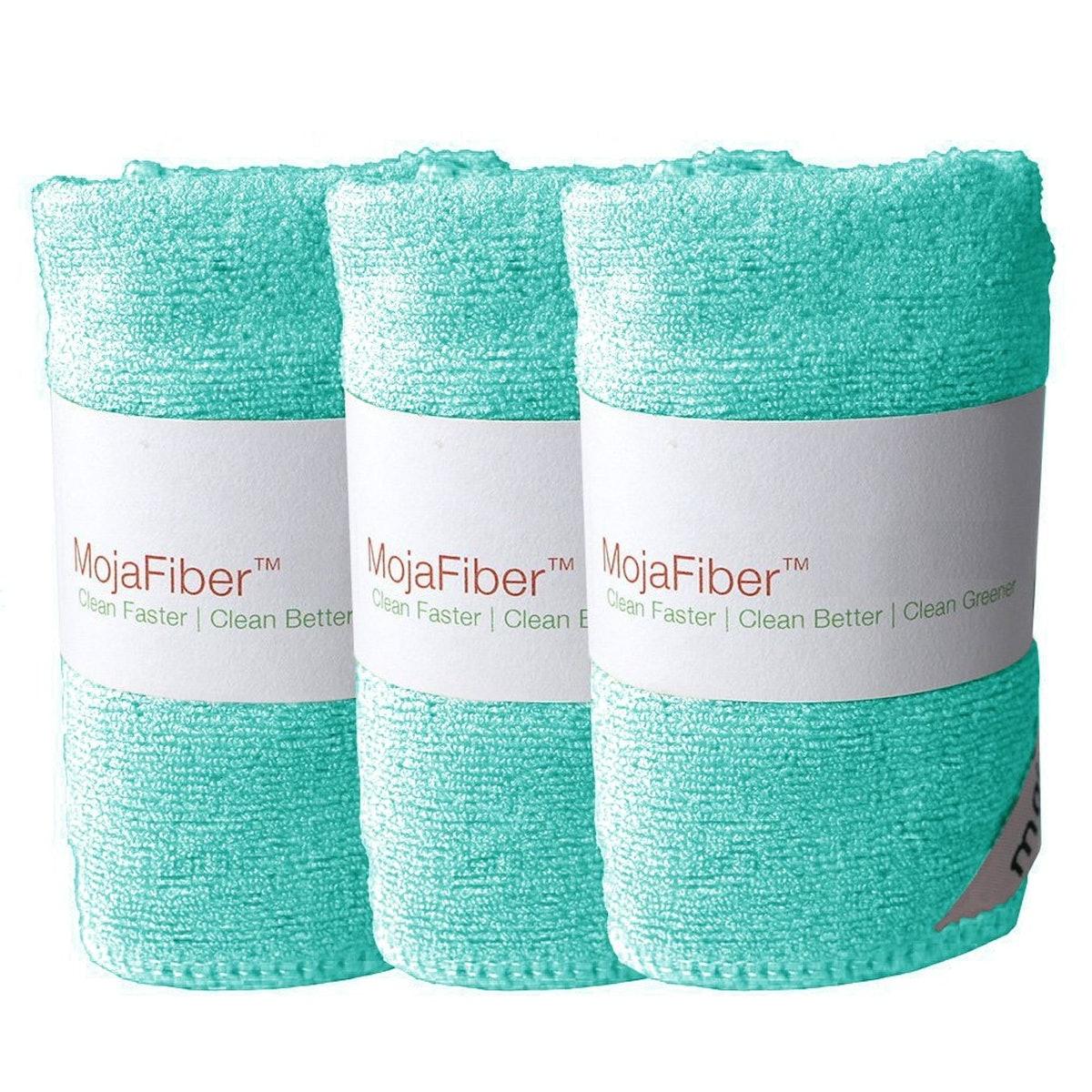 MojaFiber Microfiber Facial Cleansing Cloths (3 Pack)