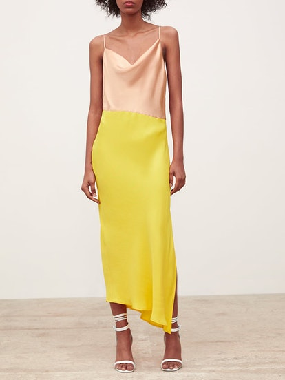 Block Color Slip Dress