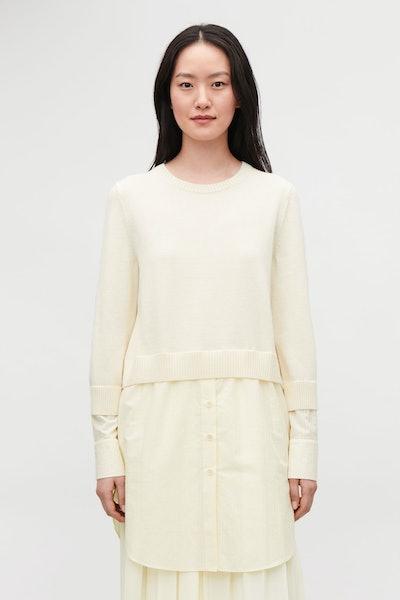 Shirt-Layered Wool Tunic
