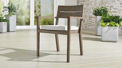 Regatta Grey Wash Dining Chair with White Sand Sunbrella ® Cushion
