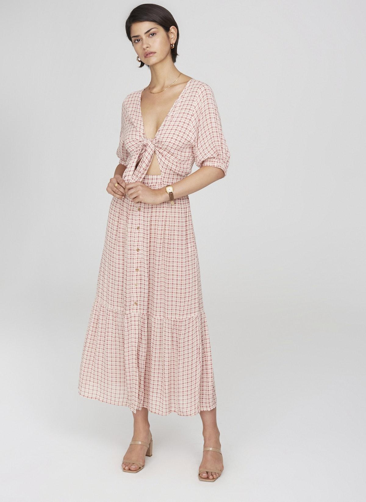 Emilinah Check Print Dress