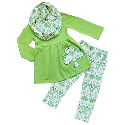 Toddler Girls 3-Piece St. Patrick's Day Outfit