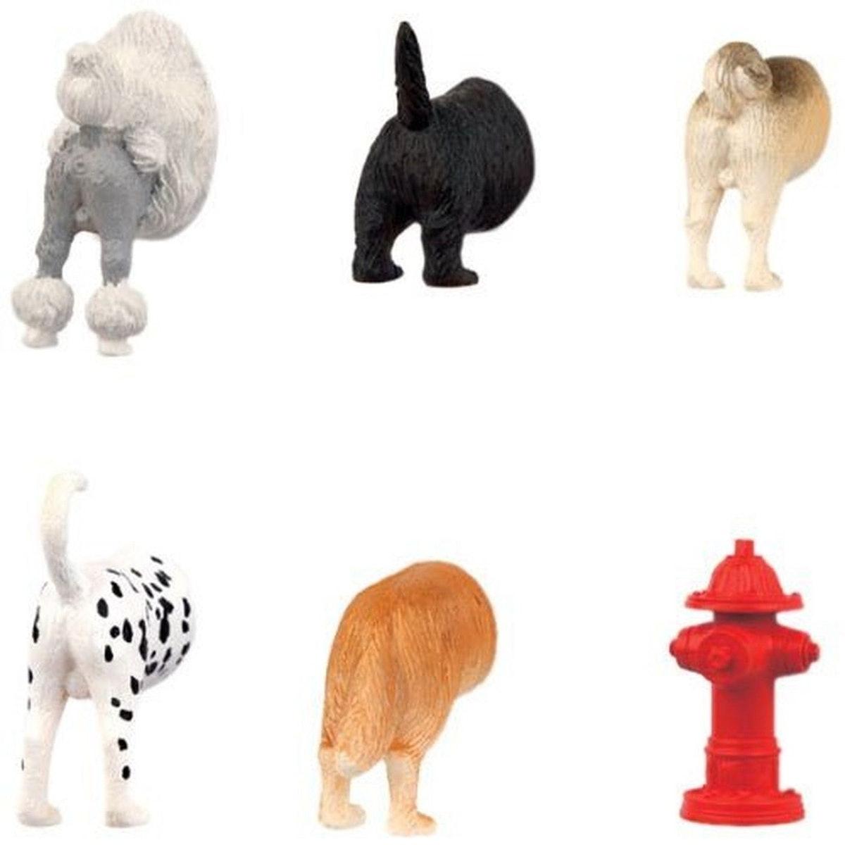 Kikkerland Dog Butts Magnets (Set Of 6)