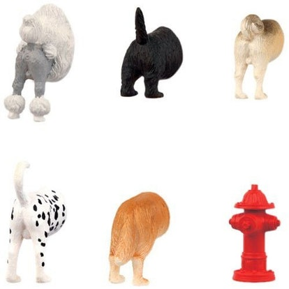 Kikkerland Dog Butts Magnets (Set Of 6)