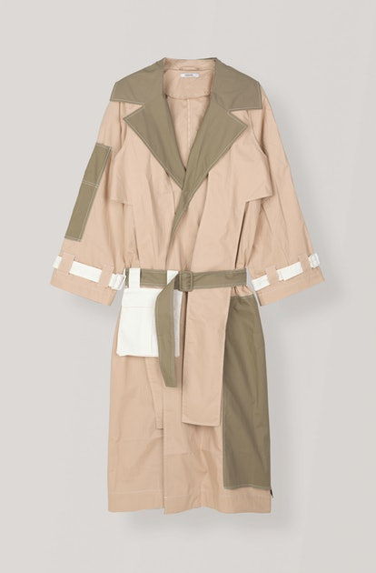 Crispy Cotton Trench Coat