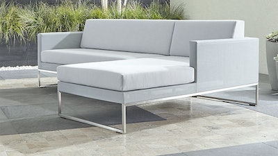 Dune Light Grey 2-Piece Right Arm Chaise Sectional with Sunbrella ® Cushions
