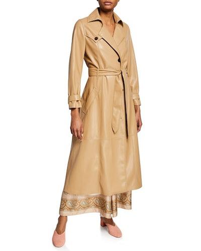 Chiara Vegan Leather Trench Coat