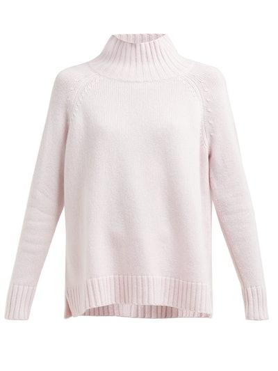 High-Neck Cashmere Sweater