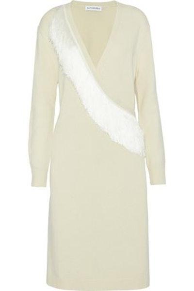 Altuzarra Elian Fringe-Trimmed Merino Wool Wrap Cardigan
