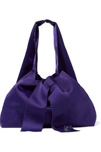 3.1 Phillip Lim Appliquéd Bow-Embellished Satin Tote