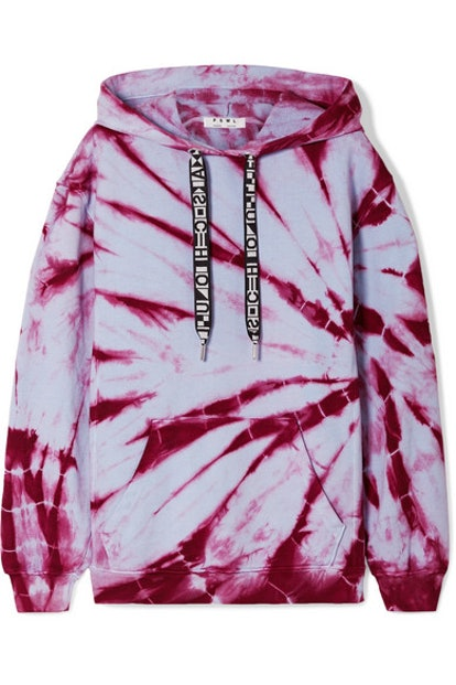 PSWL tie-dyed cotton-jersey hoodie