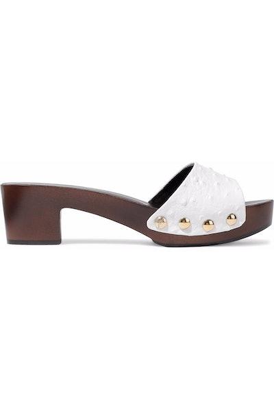 Giuseppe Zanotti Gladis Lizard-Effect Mirrored-Leather Sandals