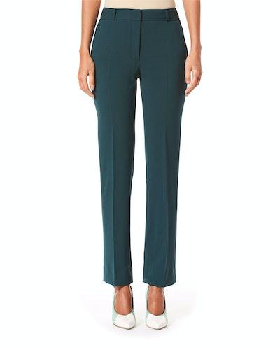 Mid Rise Wool Crepe Suit Pants