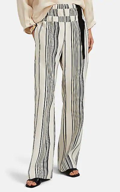 Nola Striped Wide-Leg Pants