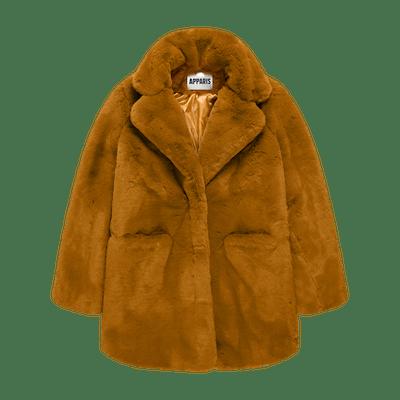 Sophie Chestnut Faux Fur Coat